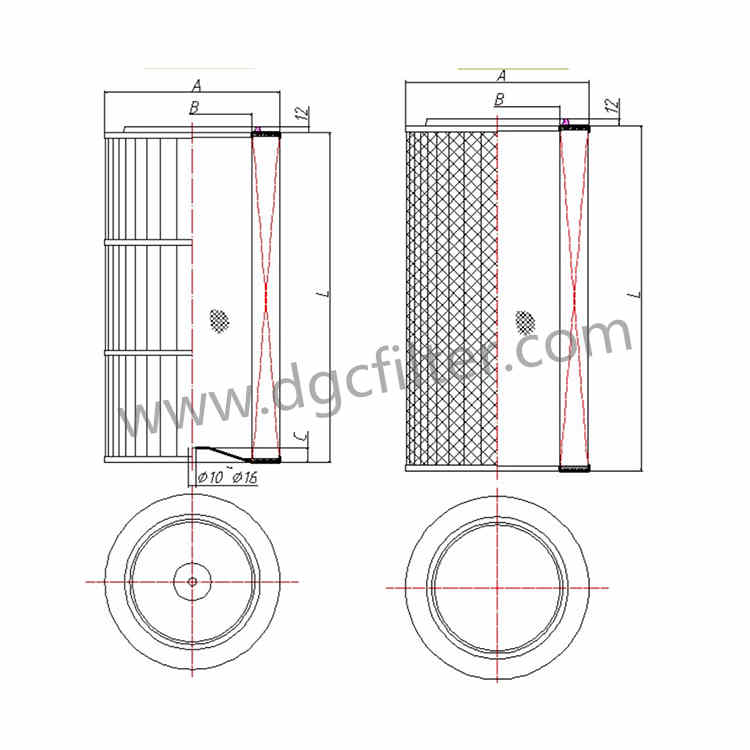 Cylindrical Filter Cartridge Data Sheet